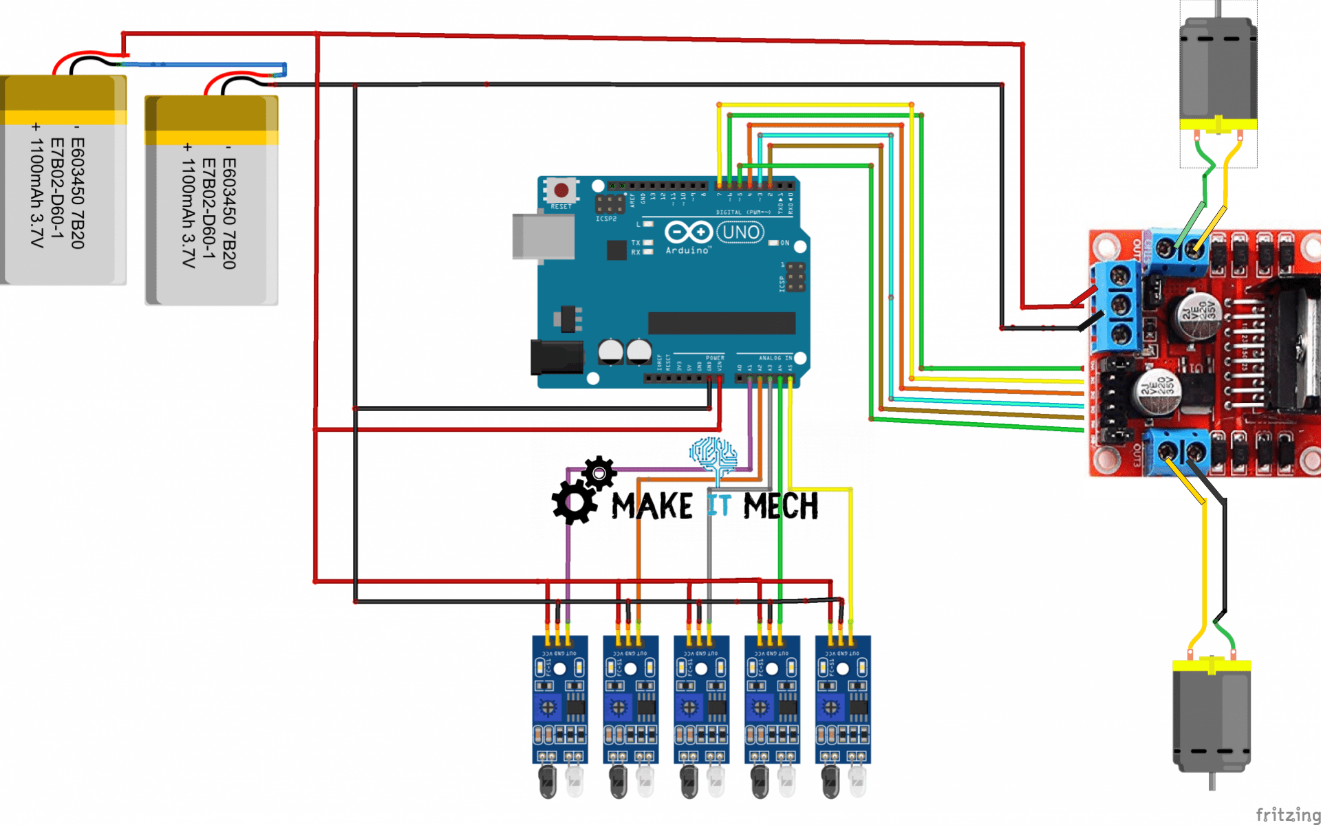 l298 pinout with arduino