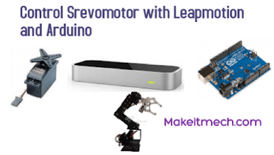 control servo motor with leap and arduino