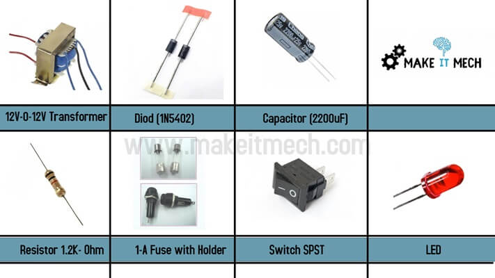 power supply components list